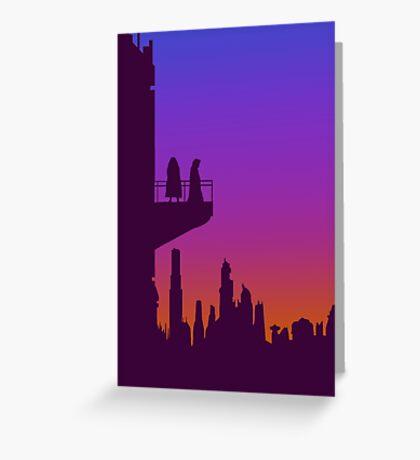 Coruscant Twilight Greeting Card