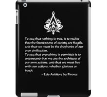Nothing is True, Everything is Permitted (White Lettering) iPad Case/Skin