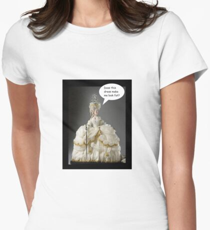 Does this dress make me look fat? Womens Fitted T-Shirt