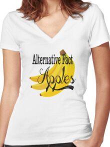 Alternative Fact Apples Women's Fitted V-Neck T-Shirt