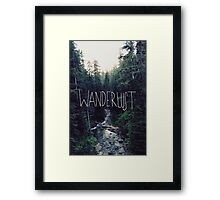 Wanderlust Rainier Creek Framed Print