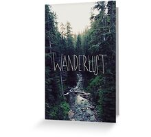 Wanderlust Rainier Creek Greeting Card