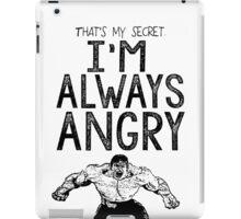 Incredible Hulk Bruce Banner Typography Marvel Comics iPad Case/Skin