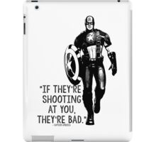Captain America Marvel Avengers Typography iPad Case/Skin