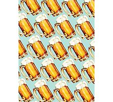 Beer Pattern Photographic Print