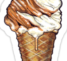 Soft Serve Twist Pattern Sticker