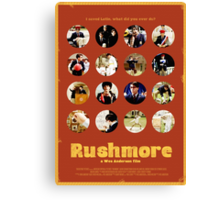 Rushmore featuring the many faces of Max Fischer Canvas Print