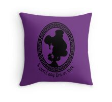 Megara - I won't say I'm in love Throw Pillow