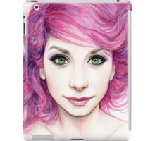 Beautiful Girl with Magenta Hair iPad Case/Skin