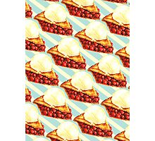 Cherry Pie Pattern Photographic Print