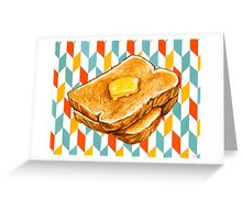 Butter Toast Greeting Card