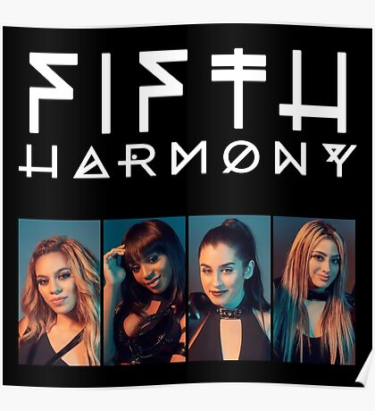 Fifth Harmony Portrait #WhiteText Poster