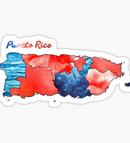Watercolor Countries - Puerto Rico Sticker