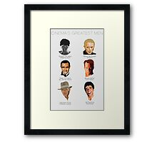 Cinema's Greatest Men Framed Print