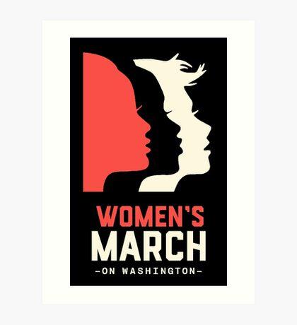 women's march on washington high resolution poster Art Print