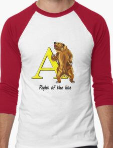 Right of the line Men's Baseball ¾ T-Shirt