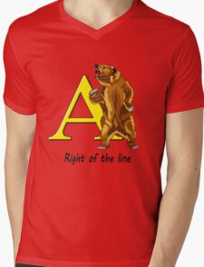 Right of the line Mens V-Neck T-Shirt