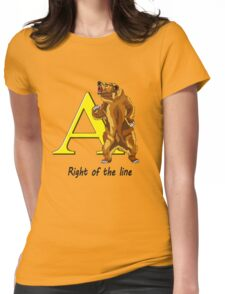 Right of the line Womens Fitted T-Shirt