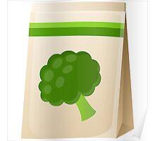 Glitch Seeds seed broccoli Poster