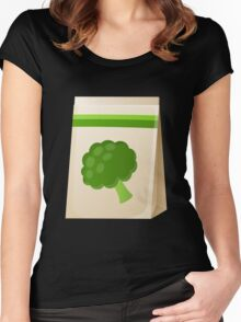 Glitch Seeds seed broccoli Women's Fitted Scoop T-Shirt