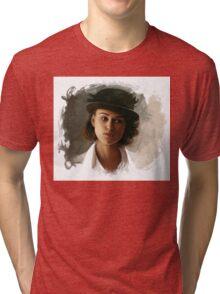 Keira Knightley fanart digital painting  Tri-blend T-Shirt