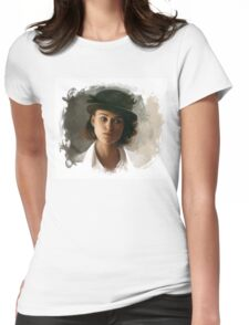 Keira Knightley fanart digital painting  Womens Fitted T-Shirt