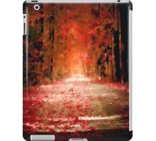 autumn dead fall pathway spiritual pagan gothic iPad Case/Skin