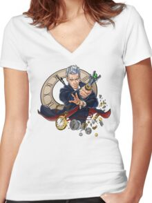 The Twelfth Doctor Women's Fitted V-Neck T-Shirt