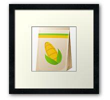 Glitch Seeds seed corn Framed Print
