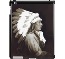 Native Amerivan chief digital painting iPad Case/Skin