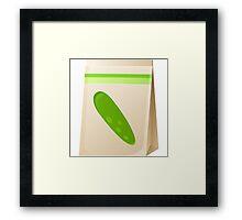 Glitch Seeds seed cucumber Framed Print