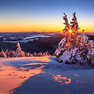 Winter sunset in the Alps by Zoltán Duray