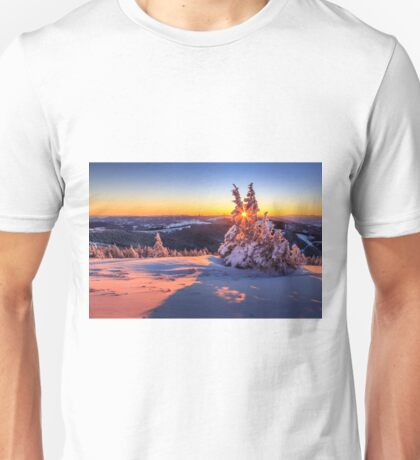 Winter sunset in the Alps Unisex T-Shirt