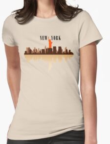 New York City Art Womens Fitted T-Shirt