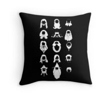 The Bearded Company White and Black Throw Pillow