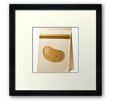 Glitch Seeds seed potato Framed Print