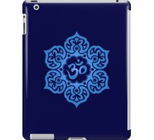 Blue Lotus Flower Yoga Om iPad Case/Skin