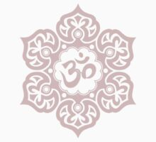 Pink Lotus Flower Yoga Om T-Shirt