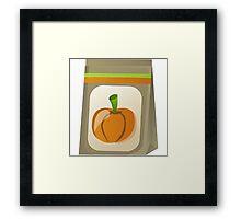 Glitch Seeds seed pumpkin Framed Print