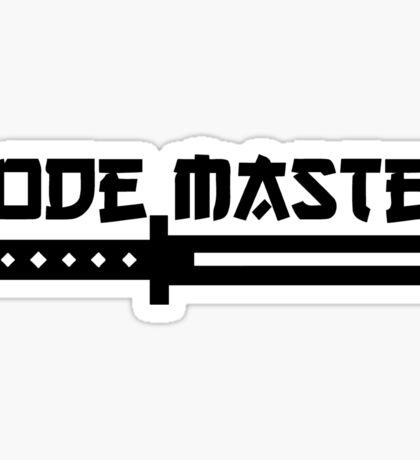 code master programming sword design Sticker