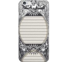 Vintage Menu with Angels   iPhone Case/Skin