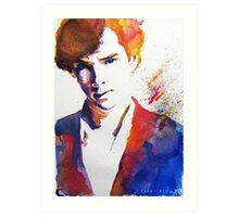 Sherlock - Splash of Colour Art Print