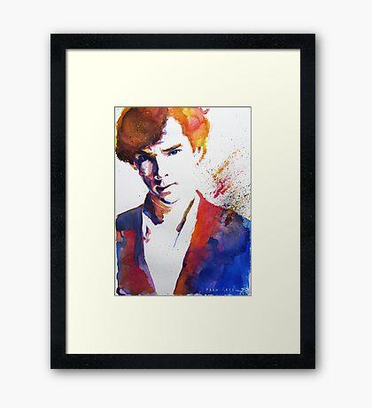 Sherlock - Splash of Colour Framed Print