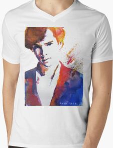 Sherlock - Splash of Colour Mens V-Neck T-Shirt