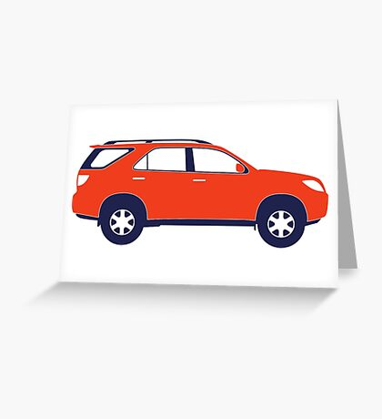 Sports Utility Vehicle SUV Greeting Card