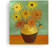 I love sunflowers Canvas Print