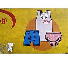 Fine underwear makes fine wall art. Photographic Print