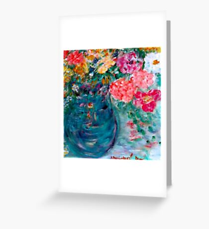 Romance Flowers Designer Decor & Gifts by Marie-Jose Pappas Greeting Card