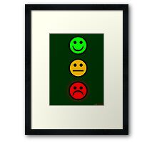 Smiley Traffic Lights - Green For Go Framed Print