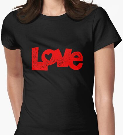 Lovely Love Womens Fitted T-Shirt